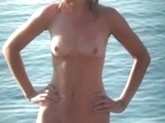 Voyeur stripped tanning