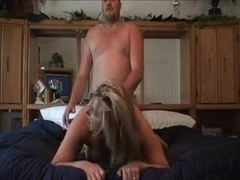 Wife satisfied by her husband