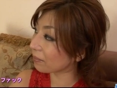 Hot threesome porn show along busty Japan mom, Naho Hadsuki