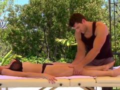 Sexy blonde Jessie Rogers came for a massage and got more than expected