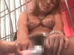 Hottest Japanese whore Asuka Shibuya in Horny Big Tits, DP/Futa-ana JAV clip