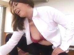 Fabulous Japanese slut Yumi Kazama in Horny Office JAV movie
