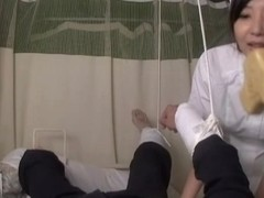 Fun at the clinic with asian nurse who has sex with patients