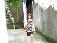 Feisty little oriental brunette loses her blouse during sharking odyssey