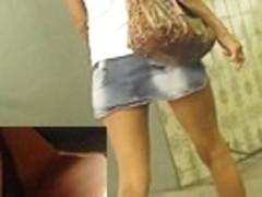 Super hawt jeans up petticoat view on webcam