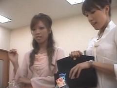 Japanese cutie enjoys a dirty massage on hidden camera