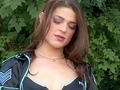 Crossdresser TS Kimberly Kills arrests a hunk and they do hardcore anal