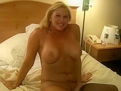 Breasty blondy dilettante mature i'd like to fuck acquires darksome creampie