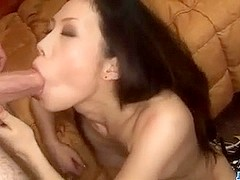 Yui Komine gets ravished and made to swallow jizz