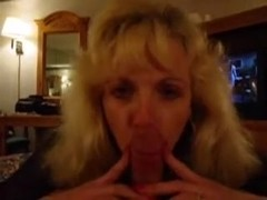 I'm giving my bf a blowjob in my private milf video