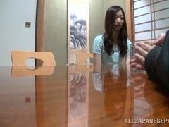 Ayumi Takanashi hot milf knows how to give a footjob