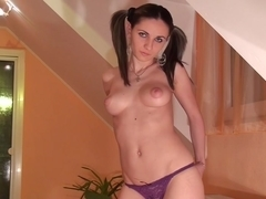 Anka in a dildo porn scene with amateur before getting fucked