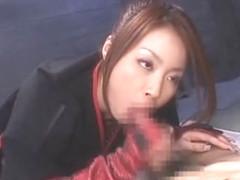 Horny Japanese model Risa Kasumi in Hottest Blowjob/Fera JAV video