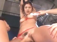 Exotic Japanese chick Azusa Ayano in Fabulous Creampie/Nakadashi, Dildos/Toys JAV clip