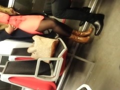 black sexy dans le RER D