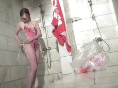Hot Russian Shower Room Voyeur Video  22
