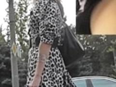 Hot nylons upskirt on a windy day