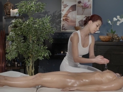 Hottest pornstars Tina Evil, Christy Charming, Nessy in Exotic Massage, Cunnilingus adult movie