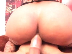 Black shemale buttfucked after seduction