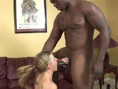 Fabulous pornstar in Hottest Blonde, Interracial sex movie