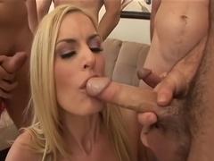 Exotic pornstar Darryl Hanah in horny cumshots, group sex porn video