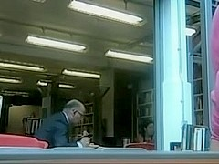 Cam upskirt in a public library