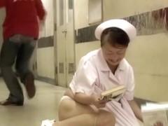 Sharking the japan nurse than fell down on the floor