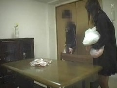Skinny Jap and her bf in hot spy camera blowjob action