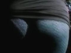 Milf Milf - ass cheeks in see thru leggins