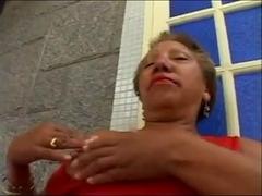 49yr old Black Granny Maria Sucks and gets Fucked Good