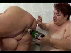 Big Mature Lesbians Taking A Shower