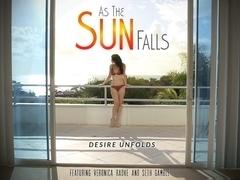 Veronica Radke & Seth Gamble in As The Sun Falls Video