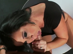 The guy penetrates slutty's tight little asshole