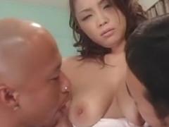 Fabulous Japanese model Sayaka Ando in Incredible Big Tits, Threesomes JAV video