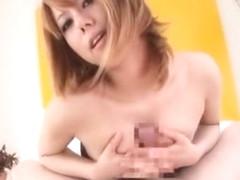 Exotic Japanese girl Rui Shiina in Incredible Fingering, Blowjob/Fera JAV clip