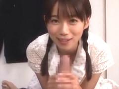 Crazy Japanese whore Asuka Hoshino in Hottest Blowjob/Fera JAV movie