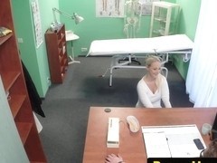 Busty euro doggystyle fucked in drs office