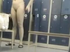 Locker room hidden cam brunette absolutely naked