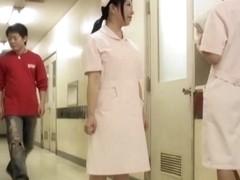Slim nurse was tabbed and sharked on spy camera