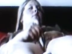 spycam blonde mom rubs clit with dildo and orgasm