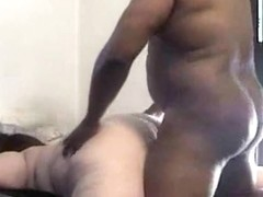 Plump White Nurse Woman Doggy Style Sex with Chunky Darksome Patient