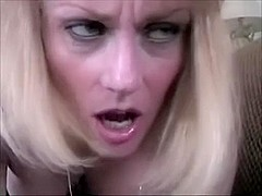 Busty mature yellow haired swallows enormous ding-ding-dong