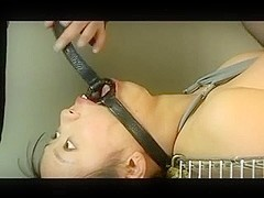 Asian slave deepthroat used