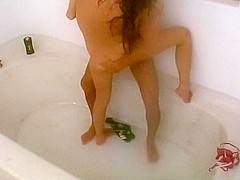 Hardcore banging in the bathtub