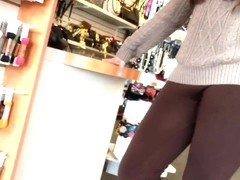 Hotties in Leggings - Candid BBW Hot ass yoga pants tights