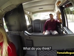 Deepthroating female cabbie caught fucking