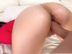 Ava loves to swallow big white cock
