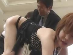 Horny Japanese slut Yuria Satomi in Crazy JAV video