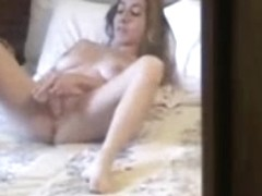 Hidden cam. My girlfriend caught masturbating
