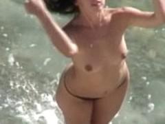 Topless beach vids
